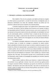 Democracia: um conceito em disputa - DHnet