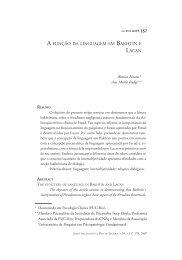 A função da linguagem em Bakhtin e Lacan - SPID - Sociedade de ...