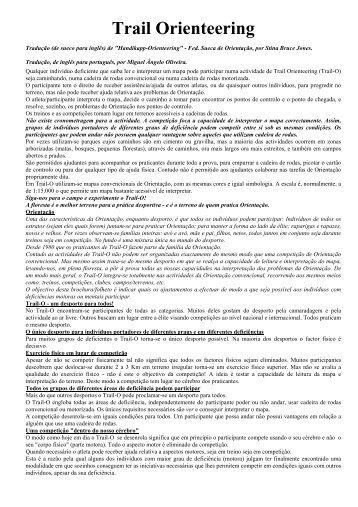 Trail Orienteering - Federação Portuguesa de Orientação