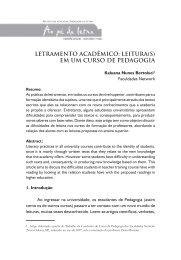 letramento acadêmico: leitura(s) em um curso de pedagogia