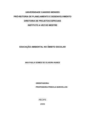 ana paula gomes de oliveira nunes - AVM Faculdade Integrada