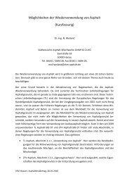 Möglichkeiten der Wiederverwendung von Asphalt ... - VSVI Hessen