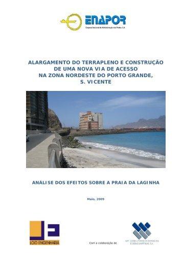 Porto Grande - Efeitos sobre a Praia - Enapor