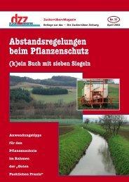 Abstandsregelungen beim Pflanzenschutz - VSZ