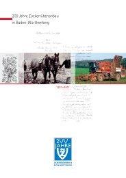 200 Jahre Zuckerrübenanbau in Baden-Württemberg - VSZ