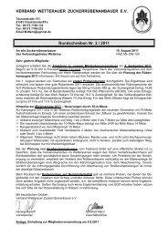 aktuelles Rundschreiben und Einladung zur ... - VSZ