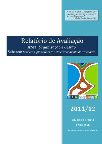 Relatório Final 2012 - Agrupamento de Escolas de Vila Verde