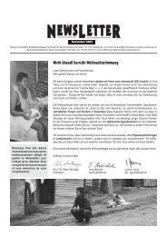 Newsletter Dezember 2003 - Vivamos Mejor