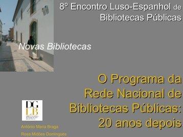 O Programa da Rede Nacional de Bibliotecas Públicas: 20 ... - RCBP