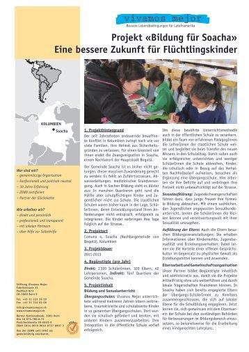 Projekt «Bildung für Soacha» Eine bessere Zukunft ... - Vivamos Mejor