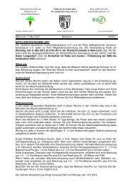 Newsletter vom 02. Mai 2012 - VSZ