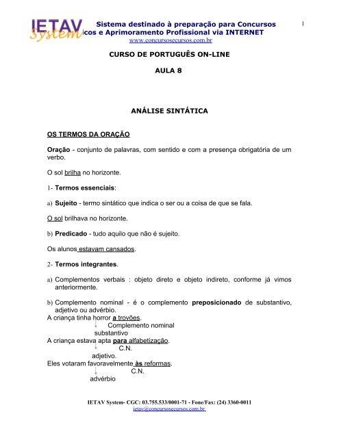 Curso De Portugues Pdf