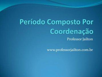 Orações coordenadas - Professor Jailton