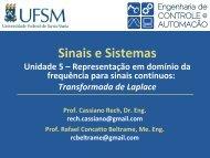Respostas no Domínio da Frequência (Aula 01) - UFSM