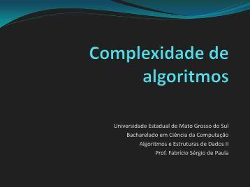Capítulo 1: Introdução - Universidade Estadual de Mato Grosso do Sul