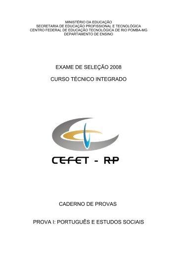 Provas objetivas de Português e Estudos Sociais para os cursos ...