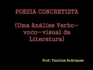POESIA CONCRETISTA (Uma Análise Visual da Literatura)