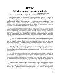 Mística no Movimento Sindical - Fetraece