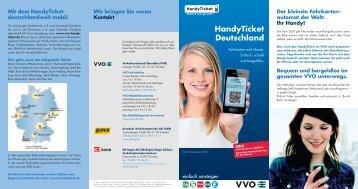 Ihr Handy! HandyTicket Deutschland - VVO