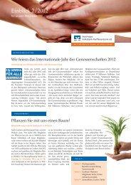 Ausgabe Nr. 2 - 2012 - Vereinigte Volksbank Raiffeisenbank eG