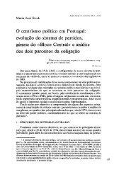 O centrismo político em Portugal: evolução do ... - Análise Social