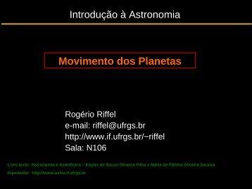 Aula 3: Movimento dos Planetas - Ufrgs