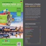 Broschüre Dresden-Cards 2013