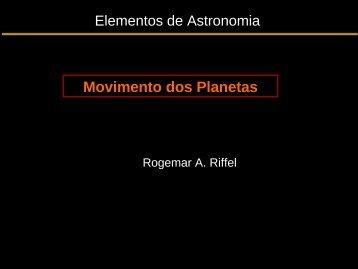 Movimento dos Planetas - UFSM