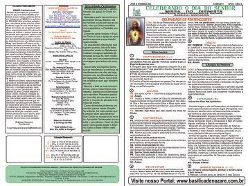 Roteiro da missa do dizimista - Abril 2011 - Basílica Santuário de ...