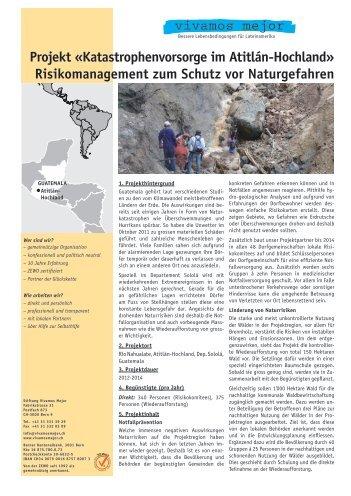 Projekt «Katastrophenvorsorge im Atitlán-Hochland - Vivamos Mejor