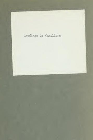 Catálogo da Camiliana, que deverá ser vendido em leilão ...