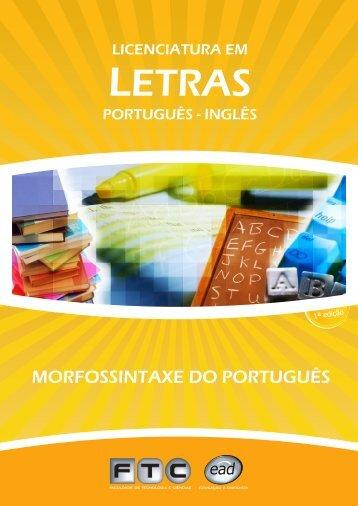 capas morfossitaxe do português - Ftc