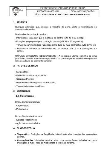 Protocolo-OBS-022-Assistencia ao Parto nas Distócias Funcionais