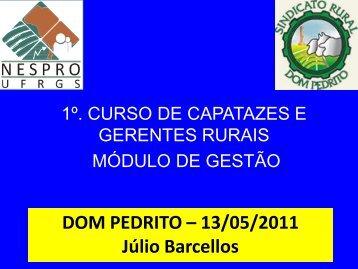 Curso de capatazes - Dom Pedrito, RS ( Maio 2011 ) - ufrgs