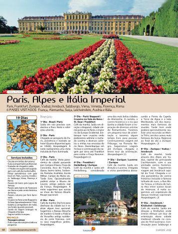 paris, alpes e Itália Imperial - Lusanova