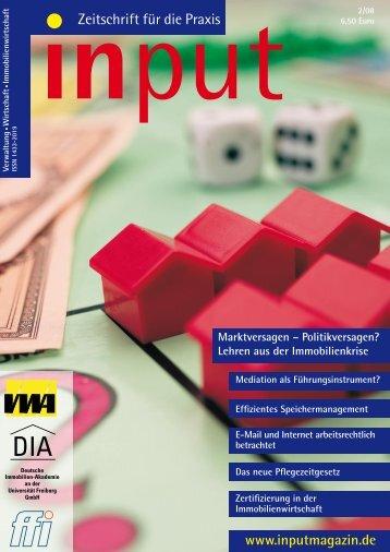 input - Zeitschrift für die Praxis Ausgabe 02/2008 - DIA