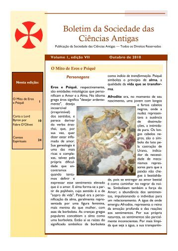 Edição Nº 7 - Sociedade das Ciências Antigas