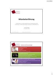 (Mitarbeiterführung Vorlesung an der VWA) - VWA München