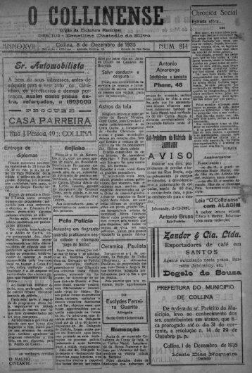 § lChronlcnMSoctal - Prefeitura Municipal de Colina