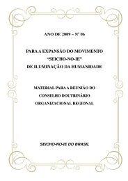Junho 2009 - seicho-no-ie do brasil
