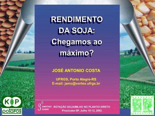 RENDIMENTO DA SOJA - IPNI - Brasil