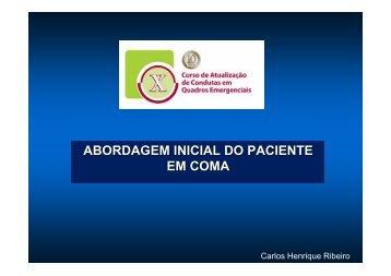 ABORDAGEM INICIAL DO PACIENTE EM COMA