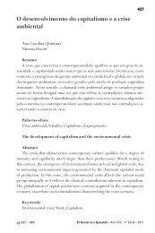 O desenvolvimento do capitalismo e a crise ambiental - O Social em ...