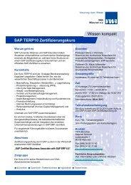 SAP TERP10 Zertifizierungskurs Wissen kompakt - VWA München