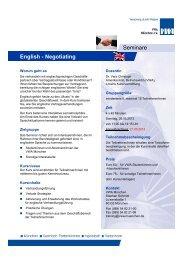 English - Negotiating Seminare - VWA München