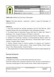 PROTOCOLO DE ATENDIMENTO Infecções Urinárias