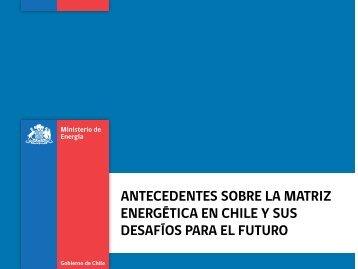 antecedentes sobre la matriz energética en chile y - Comisión ...