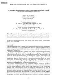 Parametrização de modelo agrometeorológico-espectral para ... - Inpe