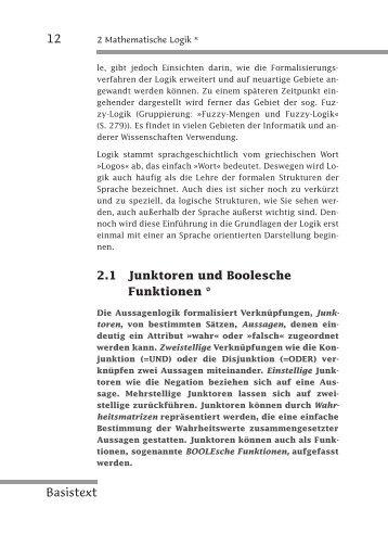 Mathematisch-logische Grundlagen: Musterbaustein - w3L