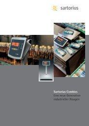 Sartorius Combics Eine neue Generation industrieller Waagen